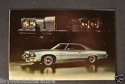 1973 Pontiac Catalina Hardtop Coupe Postcard Sales Brochure Excellent Original