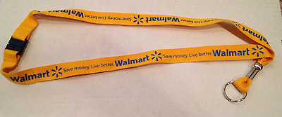 Walmart Lanyard Gold Live Better Save Money With Safety Break Away Snap Wml-1