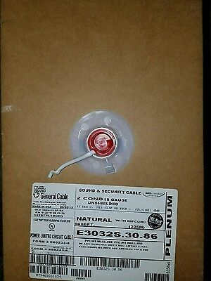 18/2 shielded plenum white cable 2 conductor 18 AWG gauge
