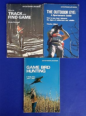Lot 3~Track & Find Game~Outdoor Eye~Game Bird Hunting~An Outdoor Life Books PB