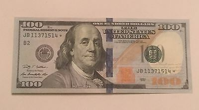 $100 Dollar Star Replacement Note 2009 New York Uncirculated Serial JB 11371514