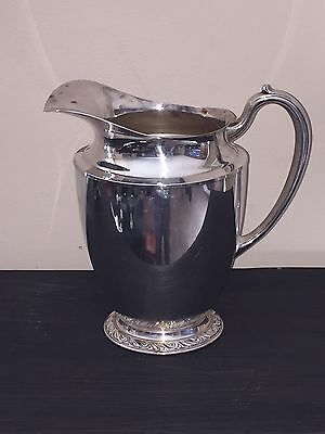 Antique Oneida Briarcliff Silver Plate Pitcher