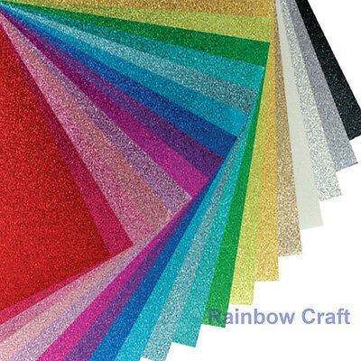 5 X Thick (300 GSM) Glitter Craft Paper 30X15 CM Cardstock 20 Colors selection