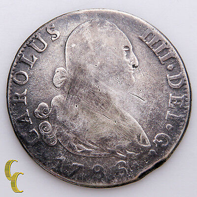 1796 Spain 4 Reales Silver Coin, KM# 431.1