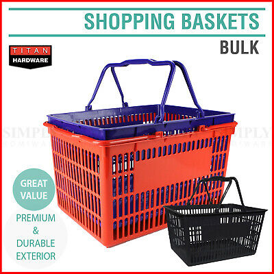 Plastic Shopping Baskets Basket Hand Business Supermarket Store Shop Bulk Flat