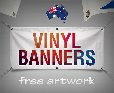 AU SELLER Custom Outdoor Vinyl Banner/PVC single sided print banner-13 sizes