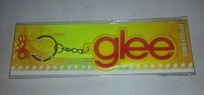 Glee Rubber Keychain TV Show Collectibles~Red & Yellow Logo~New in Package