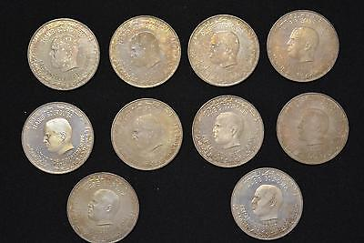 1969 Tunisia Dinar Sterling Silver 10 Coin Lot