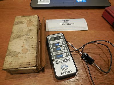 Atkins Walker Clean Air Digital Thermocouple  Thermometer NSP0695-0 w/ Box