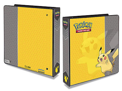 "2"" Pikachu-Art Pokemon Portfolio Fits 9-Pkt Album Ring-Binder Ultra Pro"