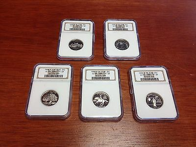 1999S PF69 Ultra Cameo NGC Clad State Quarters Proof Set (5 Coins)