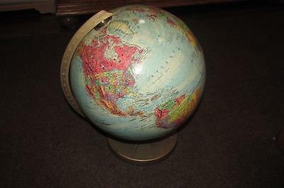 "REPLOGLE WORLD NATION SERIES 12"" RAISED RELIEF GLOBE Vintage"