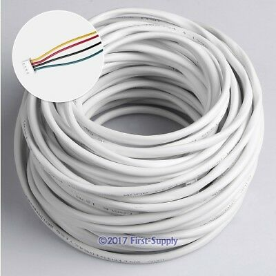 4 Core 30m 0.5mm² Round Flexible Copper Cable For Video Entry Security System