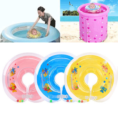 Newborn Baby Swimming Neck Ring PVC Inflatable Piscine Float Circle Bath Toy