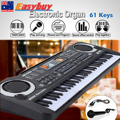 61Keys Music Electronic Keyboard Electric Digital Piano with Microphone Toy Gift