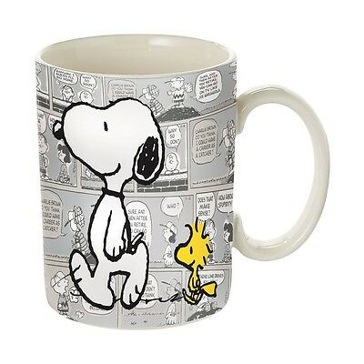 Coffee Mug Peanuts(c) Snoopy & Woodstock Comic Strip - Stoneware 16 oz.