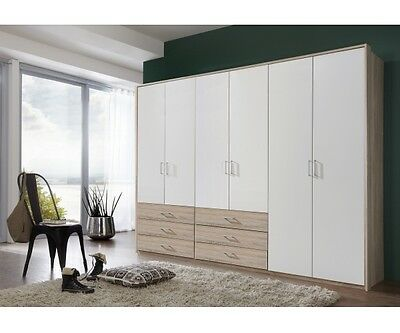 garderobe schuhschrank schuhkommode eiche s gerau dekor weiss 4teiliges set eur 299 00. Black Bedroom Furniture Sets. Home Design Ideas