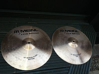 Meinl 14 inch Heavy Hihats Cymbals Roland Live Sound Made in Germany