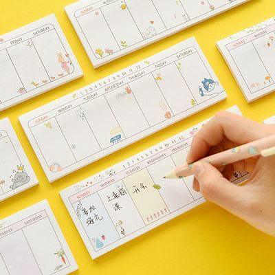 40 sheets/lot Week Notes Notebook Self-Adhesive Memo Pad Bookmark Sticky Notes