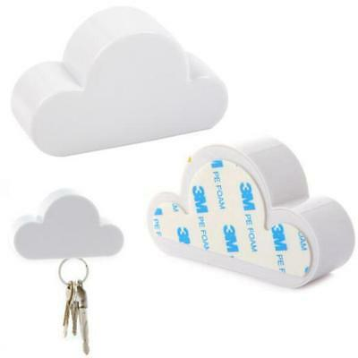 Novelty Keychain White Cloud Creative Magnetic Cloud-Shaped Holder Key Holder