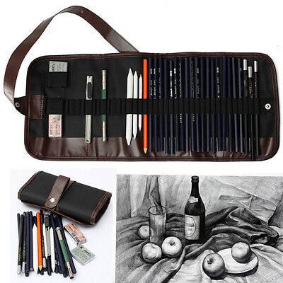 30x Sketch Pencil Charcoal Pencil Eraser Kit Art Craft Set For Drawing Sketching