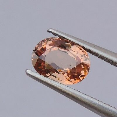 1.39ct NEW BEAUTIFUL PEACH PINK COLOR MALAYA GARNET OVAL CUT COLLECTIBLES RARE