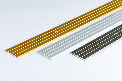 FLAT ALUMINIUM DOOR FLOOR EDGING BAR-TRIM-THRESHOLD- 40mm - various colour