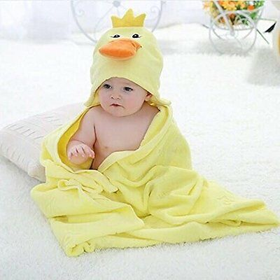 Baby Hooded Towel 100 Organic Cotton Thick Soft For Newborn Infant Boy Girl