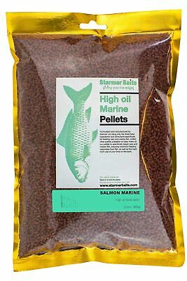 Salmon marine high oil pellets for carp and coarse fishing 2mm