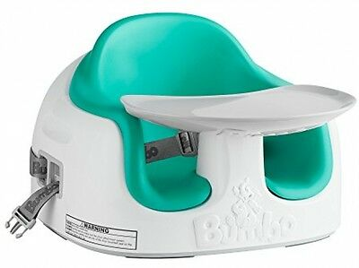 Bumbo Seat Baby Infant Play Eat Floor Harness Safety Strap Tray New, Aqua