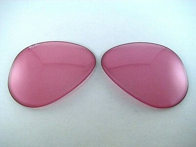 N.O.S VINTAGE RAY BAN B&L 58mm PINK CHANGEABLE REPLACEMENT SUNGLASSES LENSES