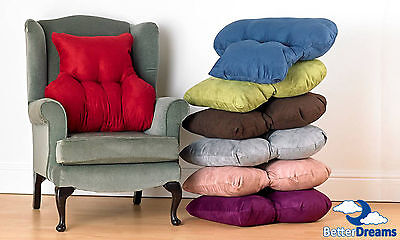 Quality Faux Suede Back Support Pillow Back Support Cushion For Chairs