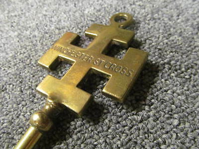 """Vintage """"Winchester Cross""""  brass toasting fork approx 19 ins"""