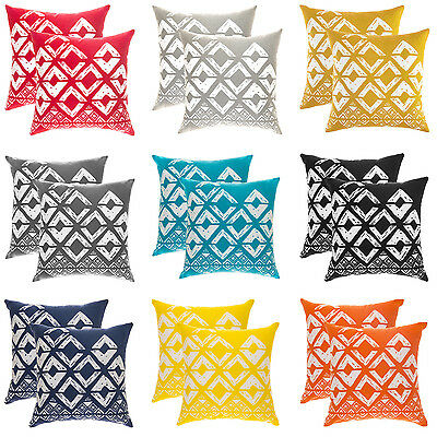 TREEWOOL, (2 PACK) Throw Pillow Cushion Covers in Cotton