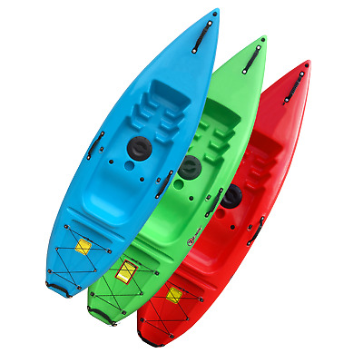 Sit On Top Kayak - Ideal for Beginners, Juniors - FREE PADDLE & BACKREST - Riber