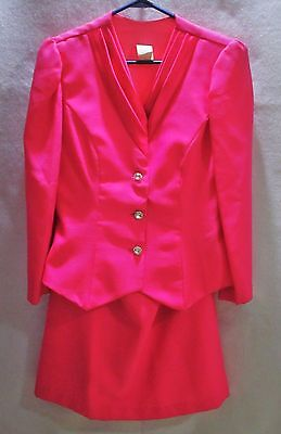 Vintage Jordan Fashions Pink 2 Piece Dress/Suit-Jacket & Skirt-Size 15/16-1990s