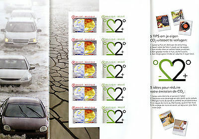 Belgium 2017 MNH Climate Change Global Warming 10v S/A Folded M/S Science Stamps
