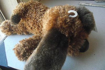 2002 United States Postal Love Stamp Puppy Plush Timeless Toy Brown Dog Black No