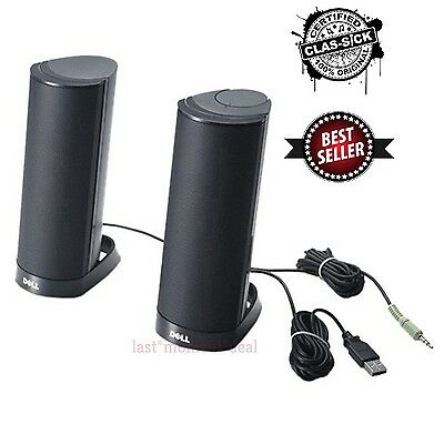 Dell Computer Speakers AX210 USB Stereo Speaker System Desktop Accessories Black