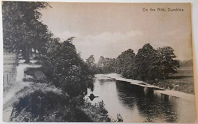 Early Vintage Postcard On The Nith River Dumfries Scotland