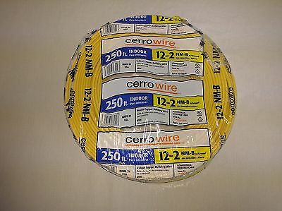Cerrowire Romex SIMPull 250 Feet 12/2 NM-B Electrical Wire Copper w/ Ground 12-2