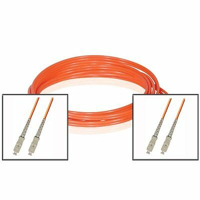 100FT (30M) SC to SC Duplex 62.5/125 Multimode Fiber Optic Patch Cable - Orange