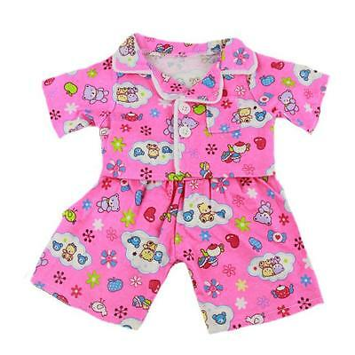 "PINK CUTE PJS PYJAMAS CUDDLES OUTFIT For 16""/40cm TEDDIES & BUILD YOUR OWN BEAR"