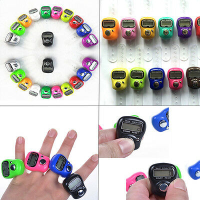 5X Electronic Digital Mini Finger Ring Tally Counter Hand Held Row TASBEE Click