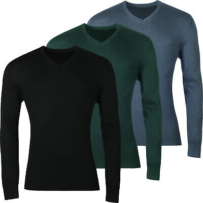 New Mens Ex High Street V Neck Jumper Pullover Sweater Top Casual Knitwear Soft