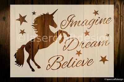 Unicorn Stencil Fairy Tale Reusable Arts Crafts 190 Micron Mylar DIY Decor