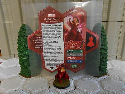 Heroscape Custom Scarlet Witch Double Sided Card & Figure w/ Sleeve Marvel