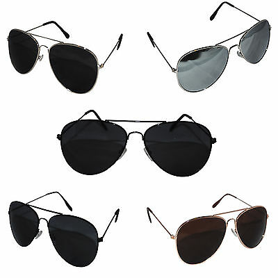 Aviator Sunglasses Unisex Mirrored Classic UV400 Shades Mens Ladies Fashion
