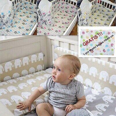 5-10 Pcs Baby Nursery Bedding Set fit Cot 120x60 or Cot Bed 140x70cm - Bumper