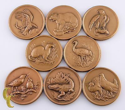 Medallic Art Co Bronze Medals National Wildlife Federation 8 Pieces
